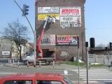 Podest ruchomy ABL 16/18 TK (podnośnik koszowy – zwyżka) montaż reklam - Chorzów