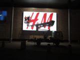 Podest ruchomy GSR E240PX (podnośnik koszowy – zwyżka) montaż reklamy - Katowice