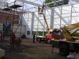 Podest ruchomy (podnośnik koszowy – zwyżka) - budowa hali Gliwice