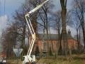 Podest ruchomy GSR E240PX (podnośnik koszowy – zwyżka) wycinka (przycinanie) drzew
